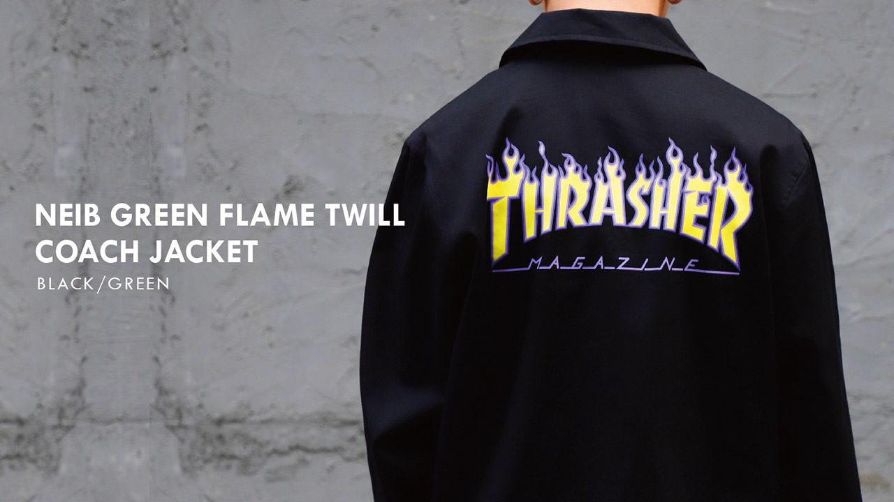 NEIB GREEN FLAME TWILL COACH JACKET-1