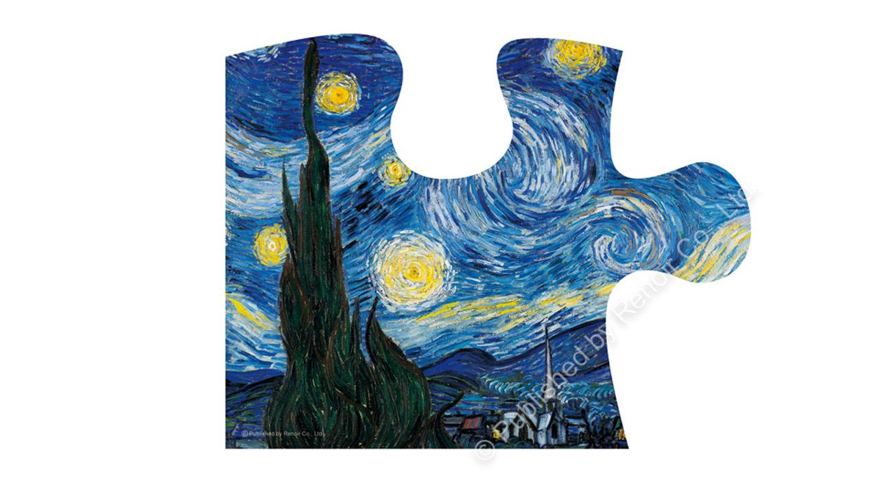 梵谷作品《星夜》-2