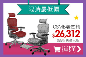 CSMB-人體工學椅-銀白